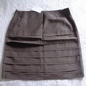 New with tags! Taupe / brown tiered mini skirt